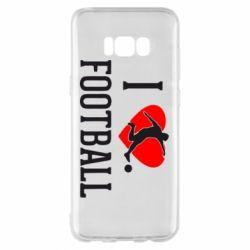 Чохол для Samsung S8+ I love football