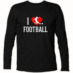 Футболка с длинным рукавом I love football - FatLine