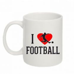Кружка 320ml I love football - FatLine