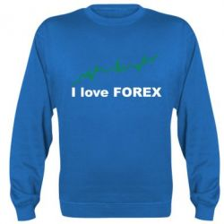 Реглан (свитшот) I love FOREX - FatLine