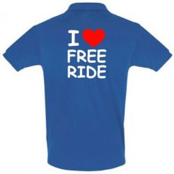 Футболка Поло I love free ride - FatLine