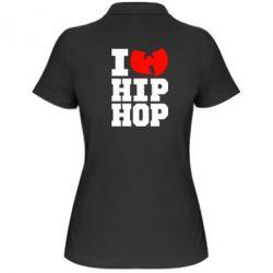Женская футболка поло I love Hip-hop Wu-Tang - FatLine