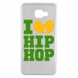 Чехол для Samsung A7 2016 I love Hip-hop Wu-Tang - FatLine