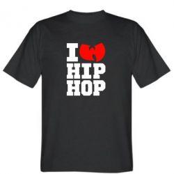 Мужская футболка I love Hip-hop Wu-Tang - FatLine