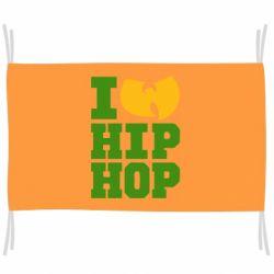 Флаг I love Hip-hop Wu-Tang