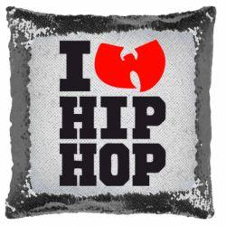 Подушка-хамелеон I love Hip-hop Wu-Tang