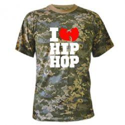 Камуфляжная футболка I love Hip-hop Wu-Tang - FatLine