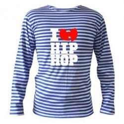Тельняшка с длинным рукавом I love Hip-hop Wu-Tang