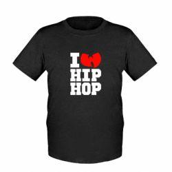 Детская футболка I love Hip-hop Wu-Tang - FatLine