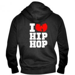 Мужская толстовка на молнии I love Hip-hop Wu-Tang
