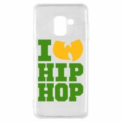 Чехол для Samsung A8 2018 I love Hip-hop Wu-Tang - FatLine