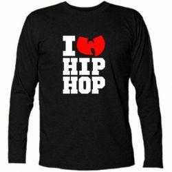 Футболка с длинным рукавом I love Hip-hop Wu-Tang - FatLine