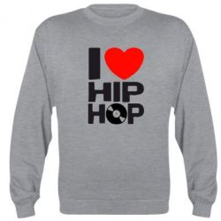 Реглан (свитшот) I love hip-hop