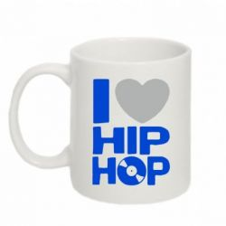 Кружка 320ml I love hip-hop - FatLine