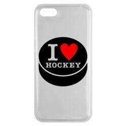 Чехол для Huawei Y5 2018 I love hockey - FatLine