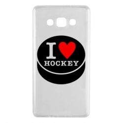 Чохол для Samsung A7 2015 I love hockey