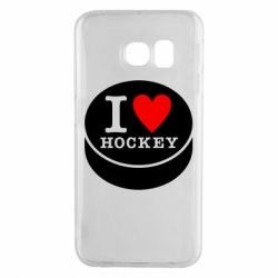 Чохол для Samsung S6 EDGE I love hockey