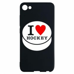 Чехол для Meizu U10 I love hockey - FatLine