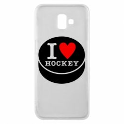 Чохол для Samsung J6 Plus 2018 I love hockey