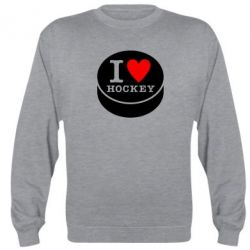 Реглан (свитшот) I love hockey - FatLine