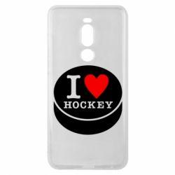 Чехол для Meizu Note 8 I love hockey - FatLine