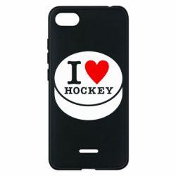 Чехол для Xiaomi Redmi 6A I love hockey - FatLine