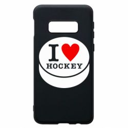Чохол для Samsung S10e I love hockey