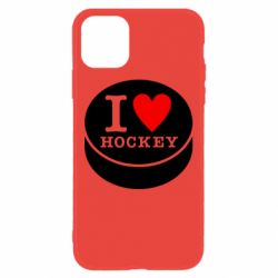 Чохол для iPhone 11 I love hockey