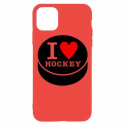 Чохол для iPhone 11 Pro I love hockey