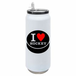 Термобанка 500ml I love hockey