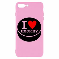 Чохол для iPhone 8 Plus I love hockey