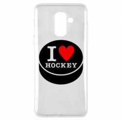 Чохол для Samsung A6+ 2018 I love hockey