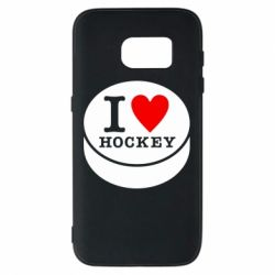 Чохол для Samsung S7 I love hockey
