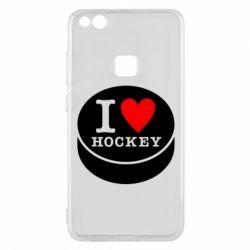 Чехол для Huawei P10 Lite I love hockey - FatLine