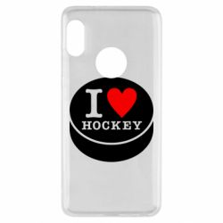 Чохол для Xiaomi Redmi Note 5 I love hockey