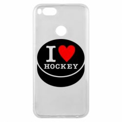 Чохол для Xiaomi Mi A1 I love hockey