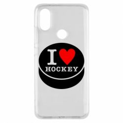 Чохол для Xiaomi Mi A2 I love hockey