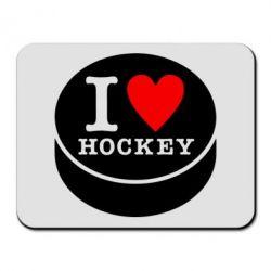 Коврик для мыши I love hockey - FatLine