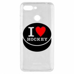 Чехол для Xiaomi Redmi 6 I love hockey - FatLine