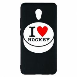 Чехол для Meizu M5 Note I love hockey - FatLine