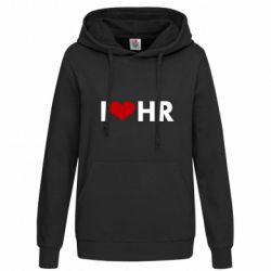 Женская толстовка I love HR