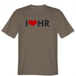 Мужская футболка I love HR
