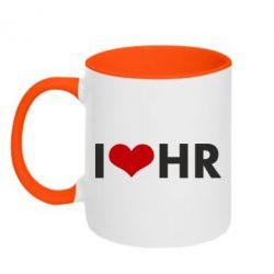 Кружка двухцветная 320ml I love HR