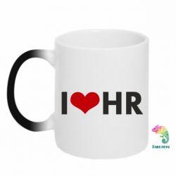 Кружка-хамелеон I love HR