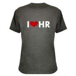 Камуфляжная футболка I love HR