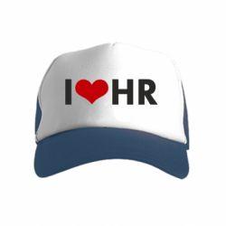 Детская кепка-тракер I love HR