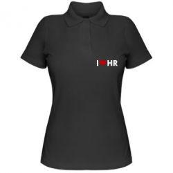 Женская футболка поло I love HR