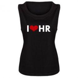 Женская майка I love HR