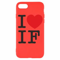Чехол для iPhone 7 I love IF