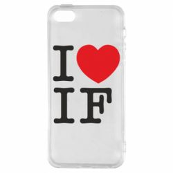 Чехол для iPhone5/5S/SE I love IF